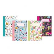 Silvine Marlene West Notebook A5 Hearts and Flowers